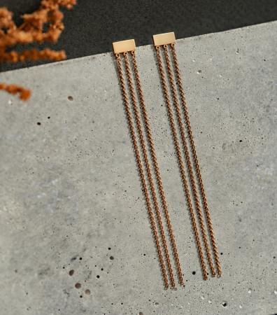 Сережки «ТРИ CТРУНИ» (8 см)