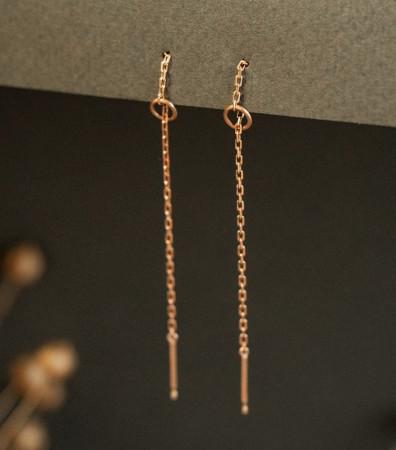 Сережки «МОНОСТРУНА» (6 см)