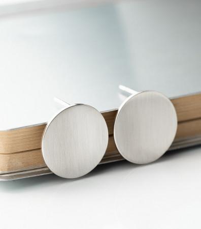Сережки «ДИСКИ» матові (20 мм)