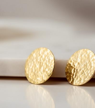 Сережки «ДИСКИ» ковані (24 мм)