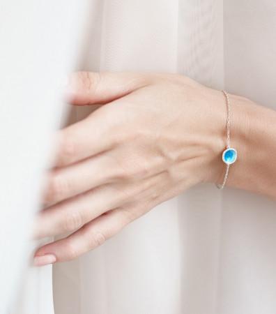 Браслет «МОРЕ» синє (9 мм)