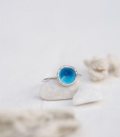 Каблучка «МОРЕ» синє (9 мм)