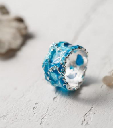Каблучка «ШТОРМ» синій (13 мм) світлий