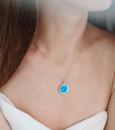 Кулон «МОРЕ» синє (16 мм)