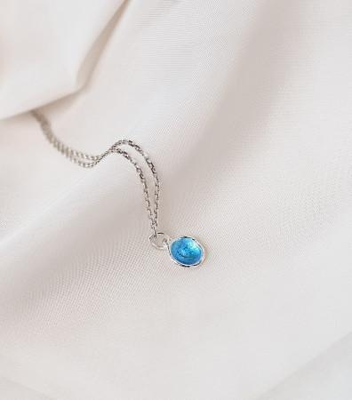 Кулон «МОРЕ» синє (9 мм)