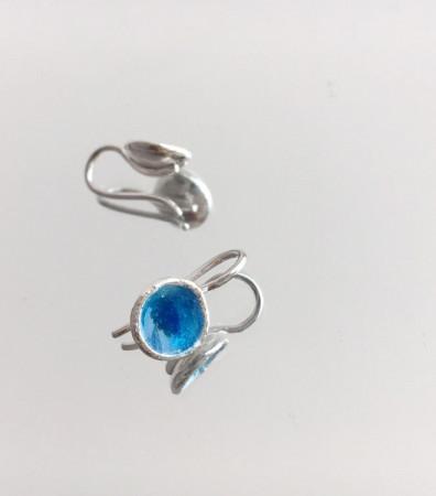 Сережки «МОРЕ» сині на гачках (9 мм)