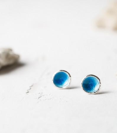 Сережки «МОРЕ» сині (9 мм)