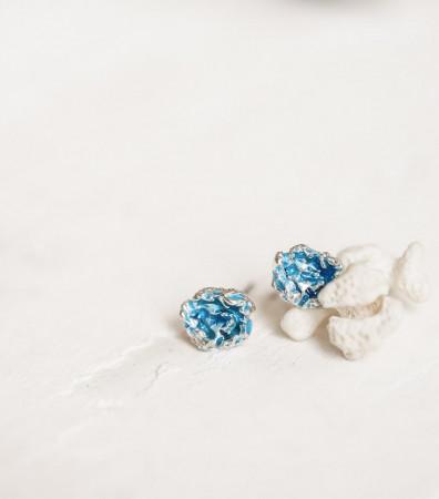 """Сережки """"ШТОРМ"""" міні, сині"""