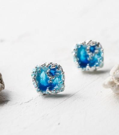 Сережки «ШТОРМ» сині світлі