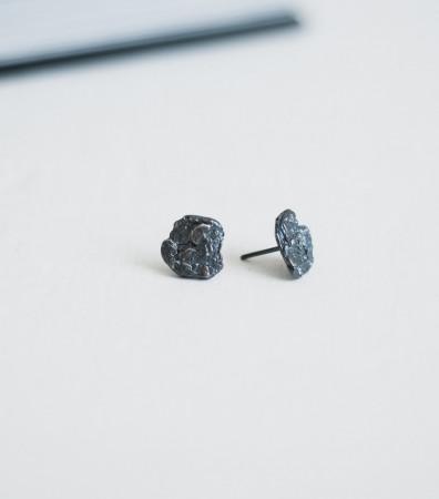 Сережки «ДУБОВА КОРА» з чорнінням