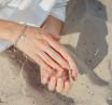 """Браслет «ЧОТКИ» з цілісних намистин, з кулоном """"БІЛА ВАДЖРА"""" (11 мм)"""